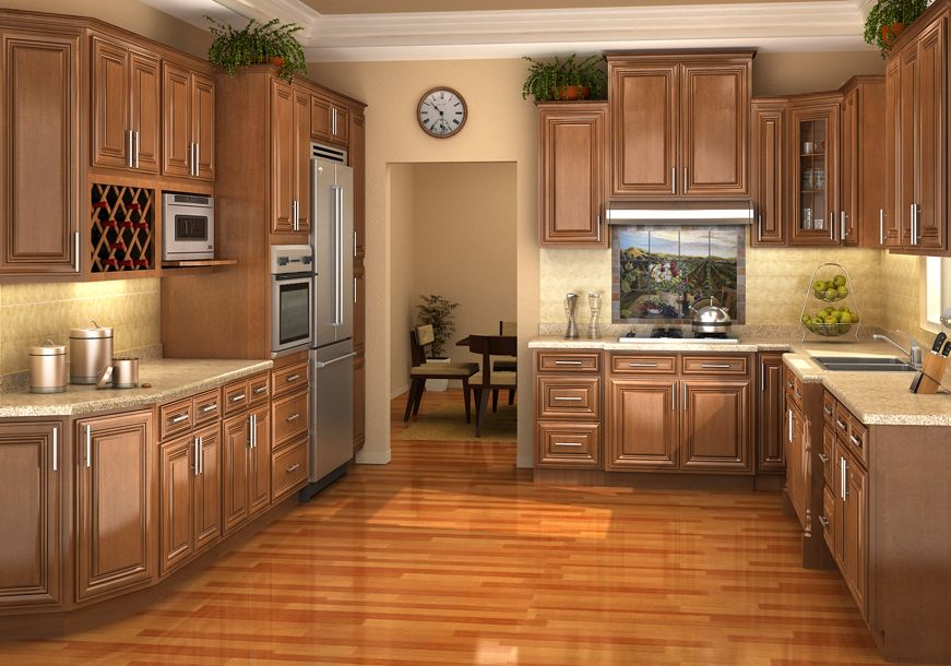 Maple Oak Bamboo Rta Kitchen Cabinets Bamboo Discount Cabinets