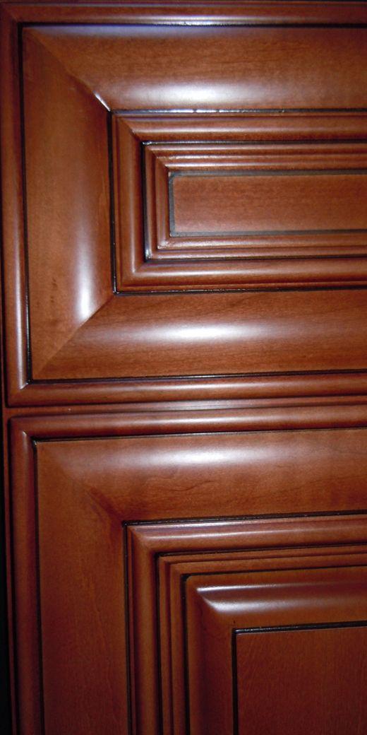 CHESTNUT PILLOW DOORS KCD CopyrightKitchenCabinetDiscounts CHESTNUT PILLOW  CORNER DOOR   Maple Oak Bamboo RTA Cabinets ...