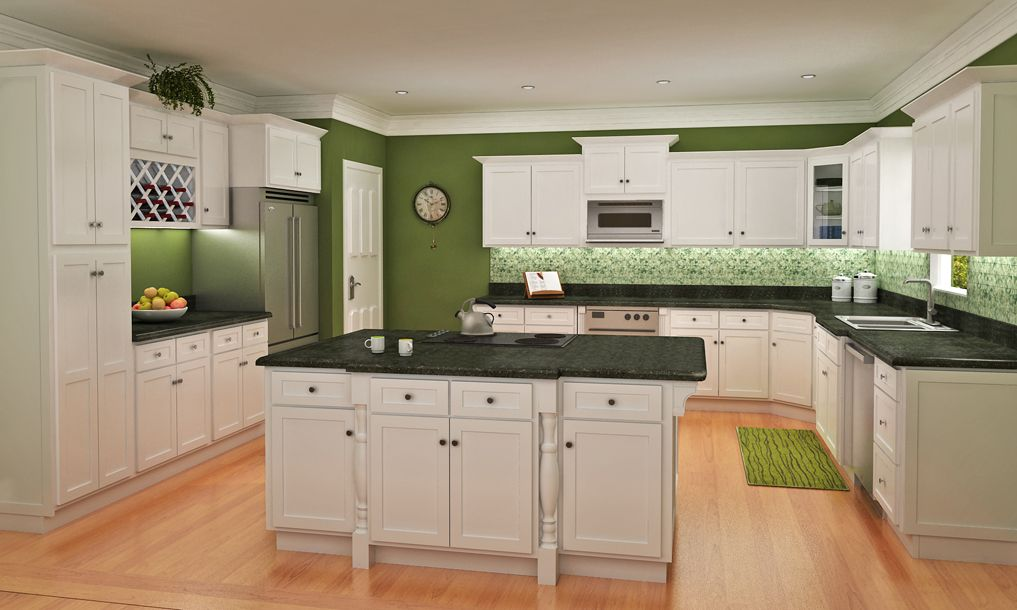 Shaker kitchen cabinets home design and decor reviews for White kitchen cupboards