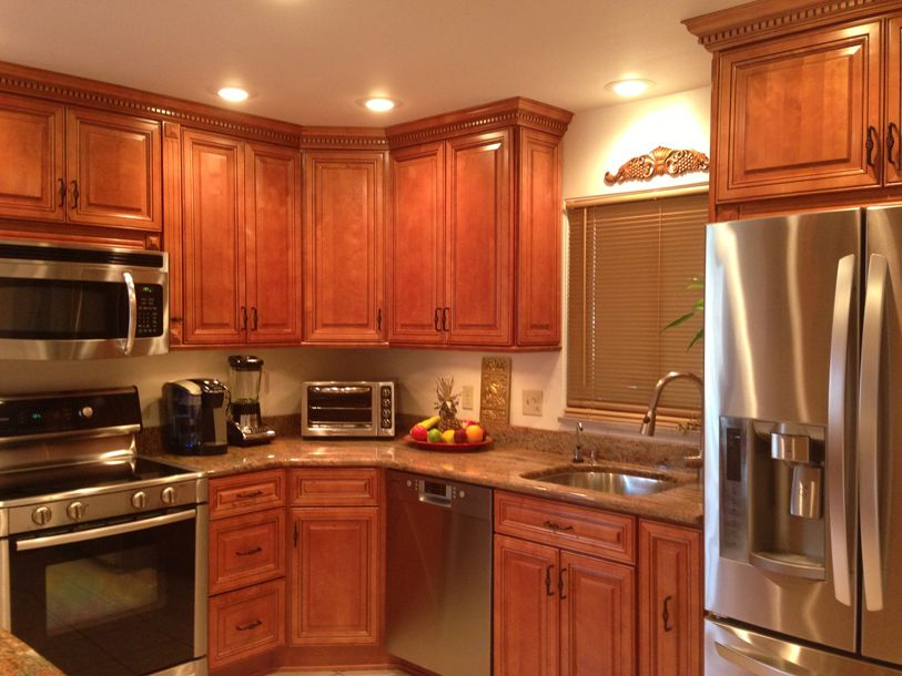 AFTER KITCHEN CABINET DISCOUNTS MAKEOVER WITH NEW APPLIANCES
