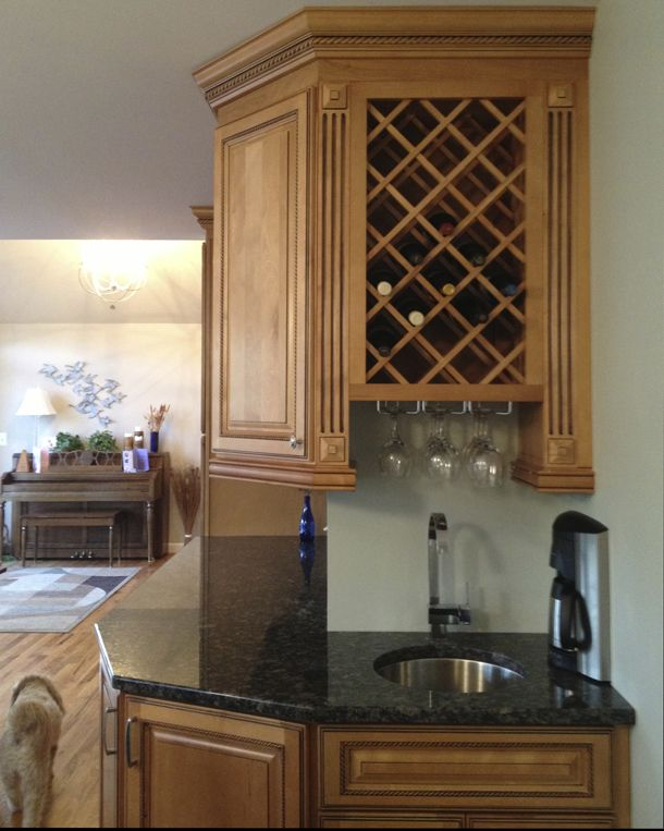 diy wine rack kitchen ...