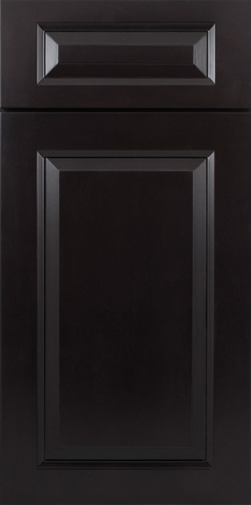 Beveled Black RTA Kitchen Cabinet Discounts