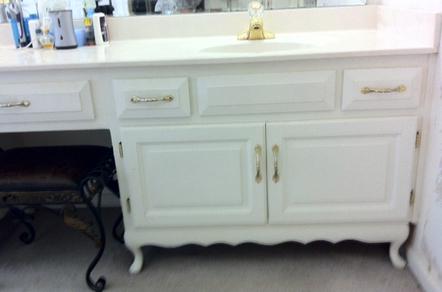 Copyright Kitchen Cabinet Discounts Trina BEFORE 1 Vanity Bathroom Makeover