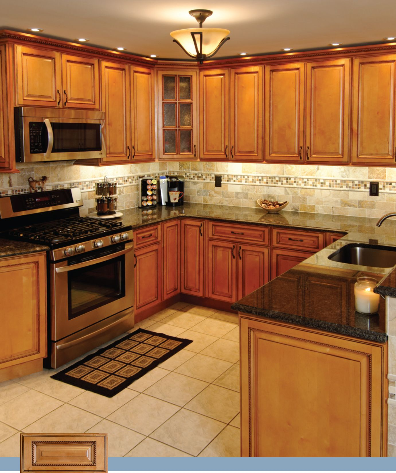 Rta kitchen cabinet discounts maple oak bamboo birch for Kitchen pictures with oak cabinets