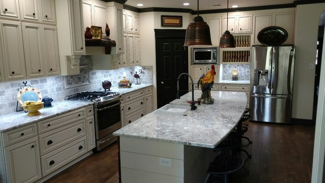 Copyright Kitchen Cabinet Discounts RORY 3 AFTER Kitchen Cabinet Discounts RTA Kitchen Makeover PEARL CREEEK WALNUT CREEK Cabinets