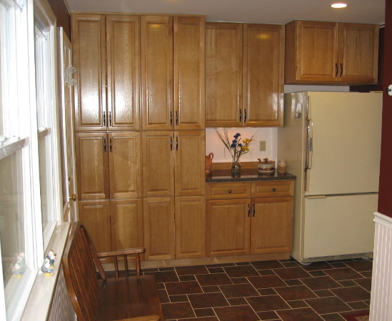 Copyright Kitchen Cabinet Discounts RTA oak cabinets John A laundry w fridge