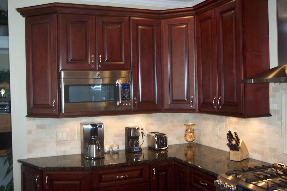 Red Mahogany Kitchen Cabinets Roselawnlutheran