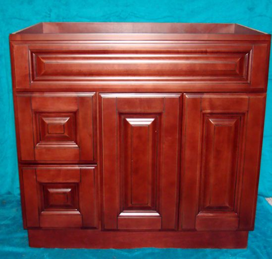Copyright Kitchen Cabinet Discounts RTA vanities Imperial Mahogany Maple Vanity closed IM RTA vanity maple oak bamboo RTA cabinets